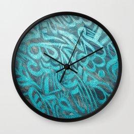 blue Rapping Wall Clock