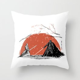 Sakura Showdown Throw Pillow