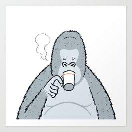Gorilla's Coffee time... Art Print