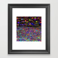 Rainbow Iridescent Stained Glass Prism Kaleidoscope Potpourri Confetti Piñata Fireworks Framed Art Print