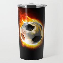 Soccer Fire Ball Travel Mug