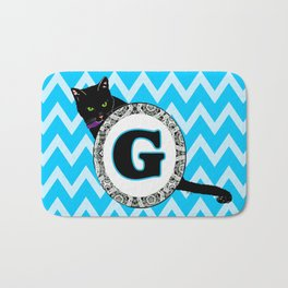 Letter G Cat Monogram Bath Mat