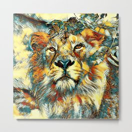 AnimalArt_Lion_20170607_by_JAMColorsSpecial Metal Print