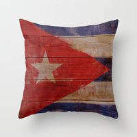 cuba Throw Pillows featuring Cuba  by Jordygraph