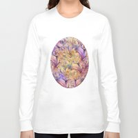 nudes Long Sleeve T-shirts featuring Nudes in Flowers by Klara Acel