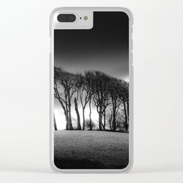 The Copse at Garngoch Common Clear iPhone Case