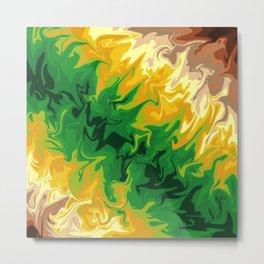 Green Fissures Metal Print