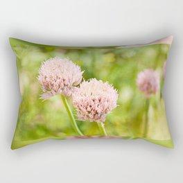 Pink chives flowering plant Rectangular Pillow
