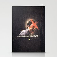 dale cooper Stationery Cards featuring Black Mirror | Dale Cooper Collage by Julien Ulvoas