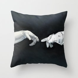Cosmic Touch Throw Pillow