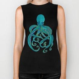 Watercolor Octopus Biker Tank