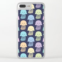 Cute colorful jellyfishes Clear iPhone Case