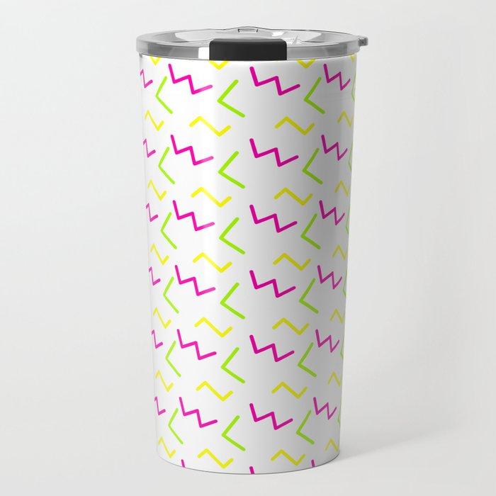 Rad 90's decor neon cartoon scribbles Travel Mug