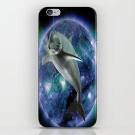 Space dolphin iPhone Skin