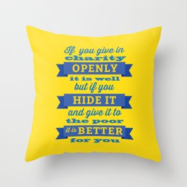 Charity Throw Pillow