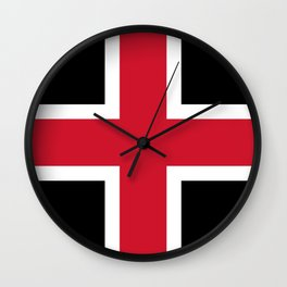Flag Of The English City Of Durham Wall Clock