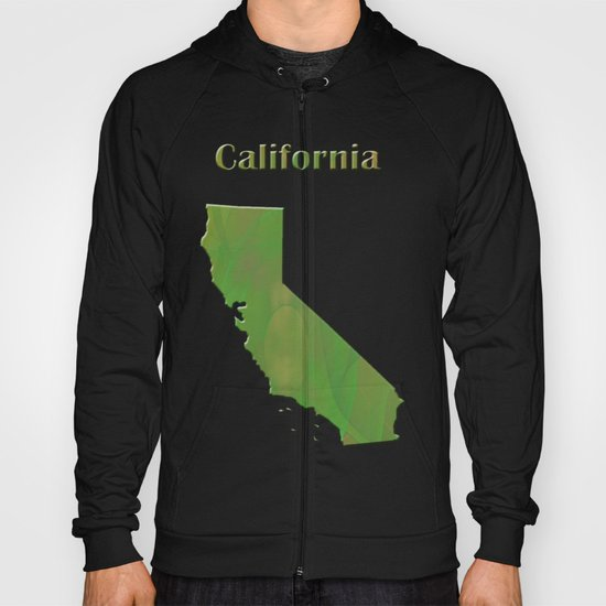California Map Hoody