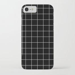 Grid Simple Line Black Minimalistic iPhone Case