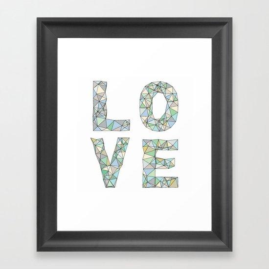 A Four Letter Word Framed Art Print