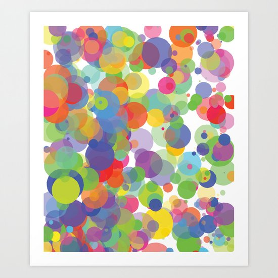 Candy Dots Art Print