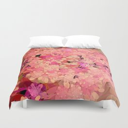 Two Different Worlds -- Floral Pattern Duvet Cover