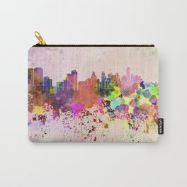 Philadelphia skyline in watercolor background Carry-All Pouch