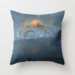 Sentinel of the Lazarian Sea Throw Pillow