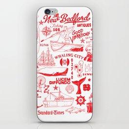 New Bedford Massachusetts Print iPhone Skin