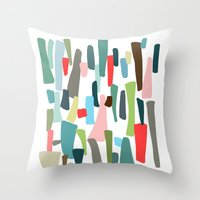 code Throw Pillows featuring color code by frameless