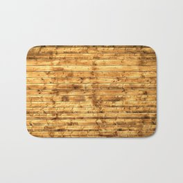 Grunge Rustic Wood pattern Bath Mat
