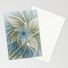 A Floral Dream, Abstract Fractal Art Stationery Cards