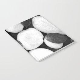 Zen White Stones On A Black Background #decor #society6 #buyart Notebook