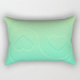 Pastel Ying Yang Rectangular Pillow