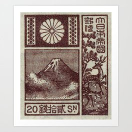 Japan Postage Stamp Art Print