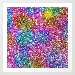 Starry Night, Starry Bright Abstract Pattern Art Print