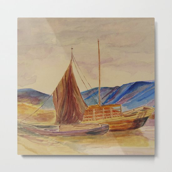 sailing boats with fruit Metal Print