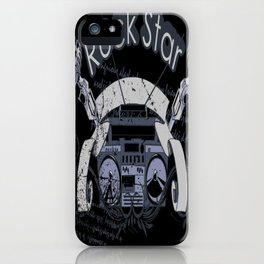 Rock Star Illustration Gift Idea iPhone Case