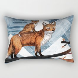 Fox Wood Rectangular Pillow