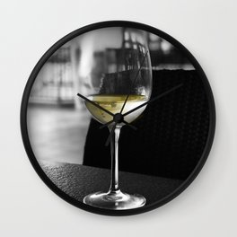 The Lone Companionship of Pinot Noir Wall Clock