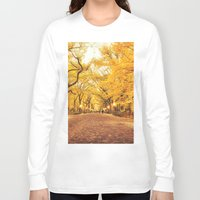 literary Long Sleeve T-shirts featuring New York City Autumn by Vivienne Gucwa