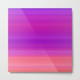 Orange & Purple Stripes | Bright ombre gradient pattern Metal Print
