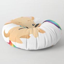 LGBT Gay Pride Flag Chihuahua Floor Pillow