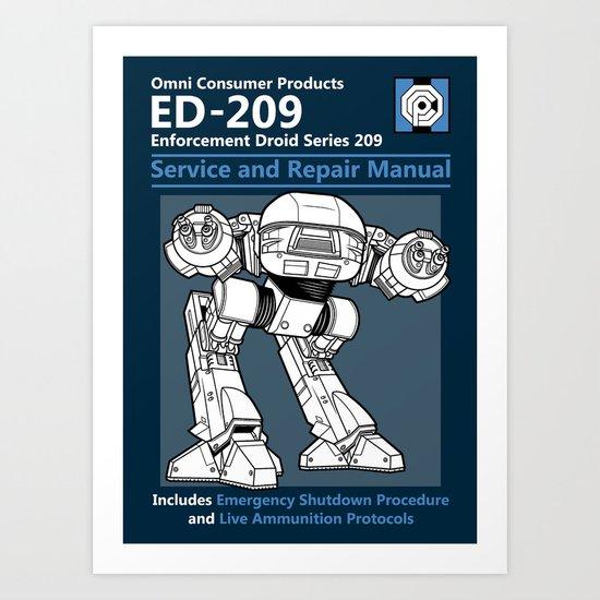ED-209 Service and Repair Manual Art Print