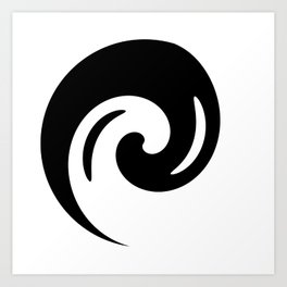 Yin Yang Exagerated Art Print