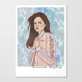 Sel Baby Blue Canvas Print