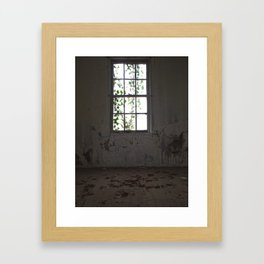 Forgotten Window Framed Art Print