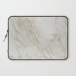 Marble Love Bronze Metallic Laptop Sleeve