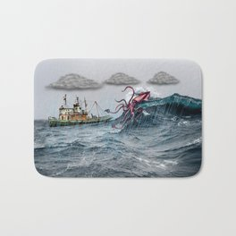 Kraken Attack Bath Mat