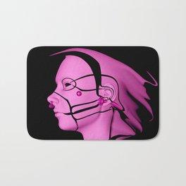 Pink Cyborg Bath Mat