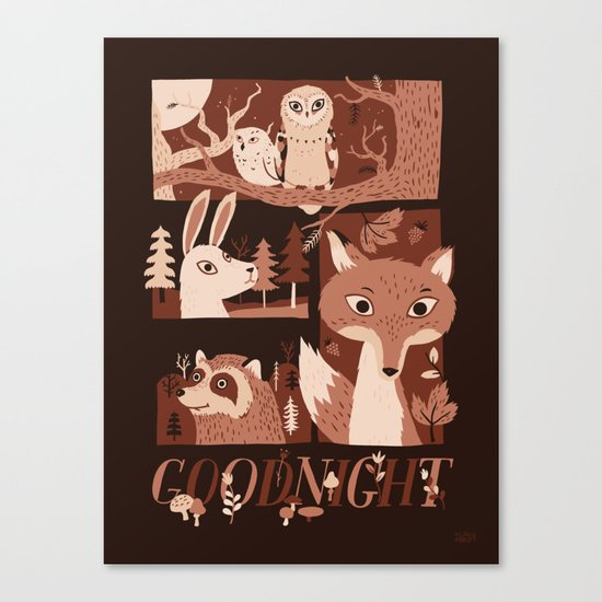 Goodnight Forest Canvas Print